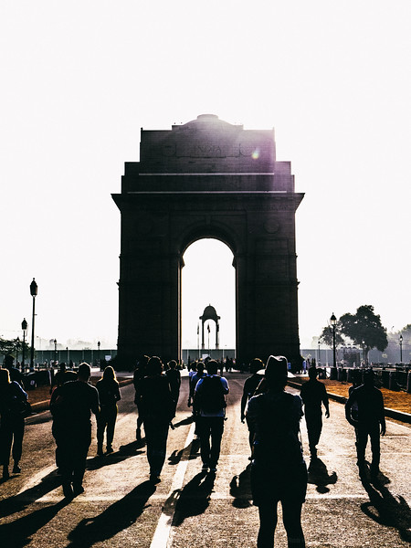 The Sun Rises on India Gate