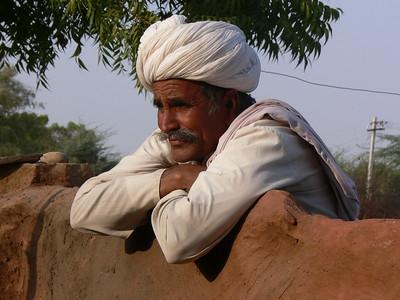 India.Thar Desert Man Daydreaming.