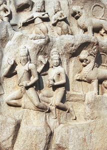 Look for the monkey.  Mahabalipuram, India