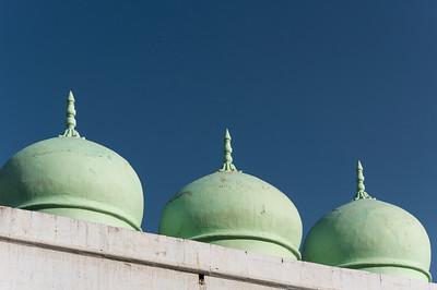 Green Mosque Domes, Pushkar