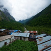 The actual village of Ghangaria, mid way to seasonal village set up for pilgrims.