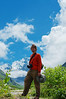 Yann among Himalayan peaks