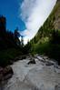 Crossing the Pushpawati river