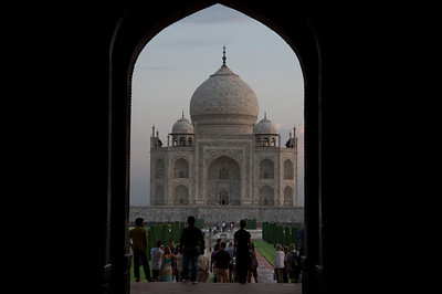 Entry way to Taj Mahal