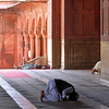 Jama Masjid Mosque--In prayer
