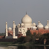 "This is the ""backend"" of the Taj Mahal from across the river."