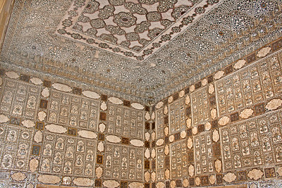 intricate, detailed wall and ceiling art from India