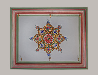 a painting on a ceiling in India