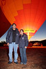 Indian Couple about to fly in a Hot Air Balloon