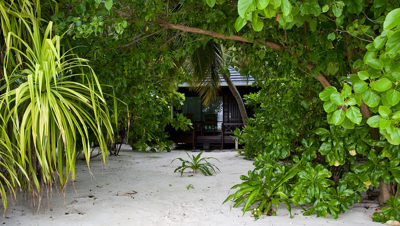 My bungalow as seen from the beach.<br /> <br /> Location: Royal Island Resort, Maldives<br /> <br /> Lens used: 17-40mm f4.0