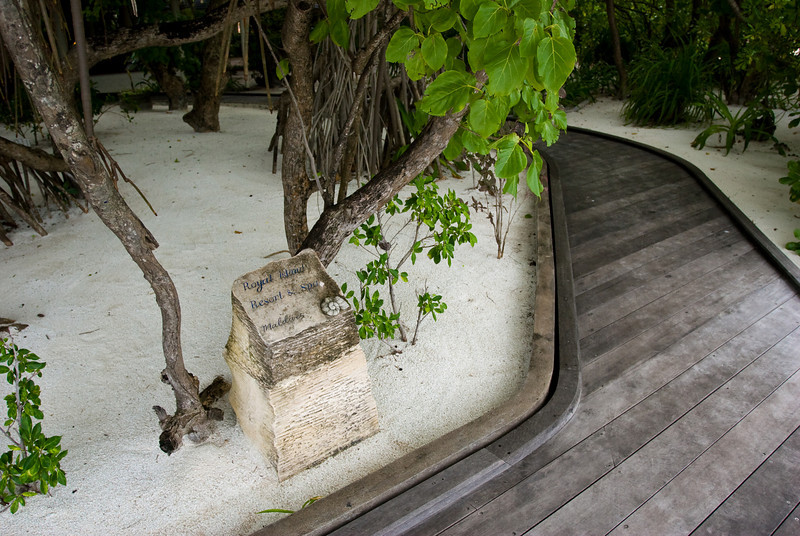 The entrance off the tourist dock.  I like the subdued, minimalist design.<br /> <br /> Location: Royal Island Resort, Maldives<br /> <br /> Lens used: 17-40mm f4.0