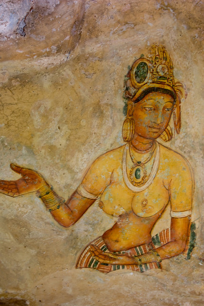 A Sigiriya maiden.<br /> <br /> Picture #2 in a series of 5.<br /> <br /> Location: Sigiriya, Sri Lanka<br /> <br /> Lens used: 17-40mm f4.0