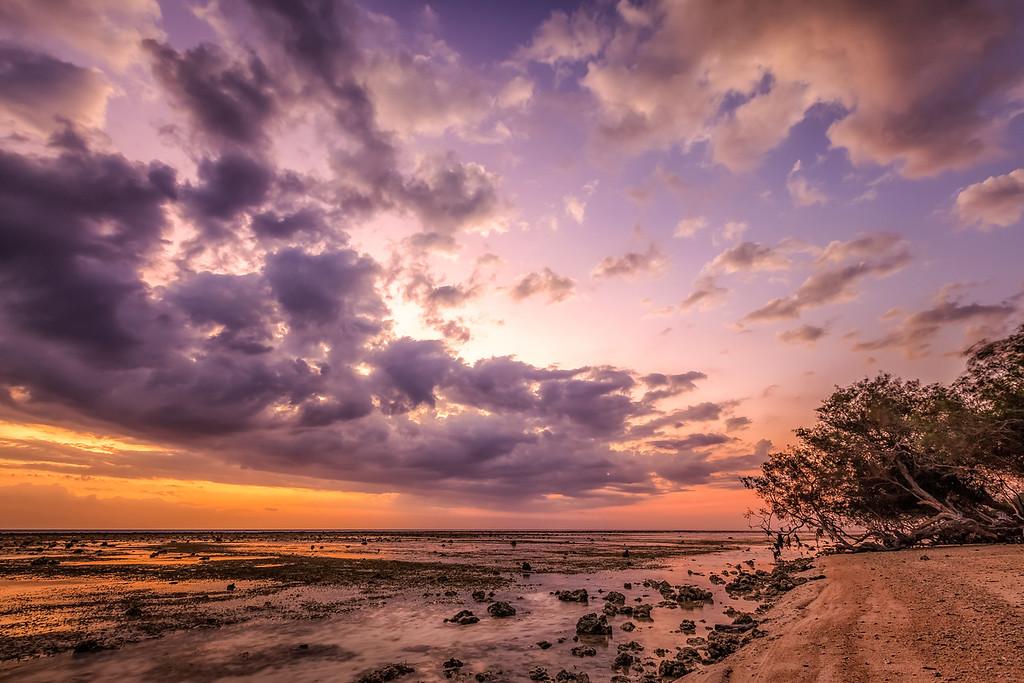 Gili's island sunset