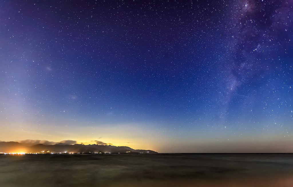 Nightshot in the Gili's island