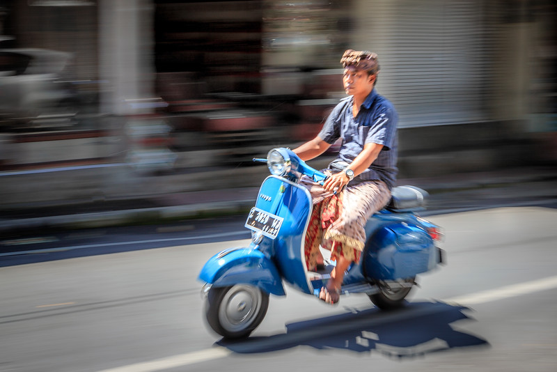 Man on a scooter in Bali