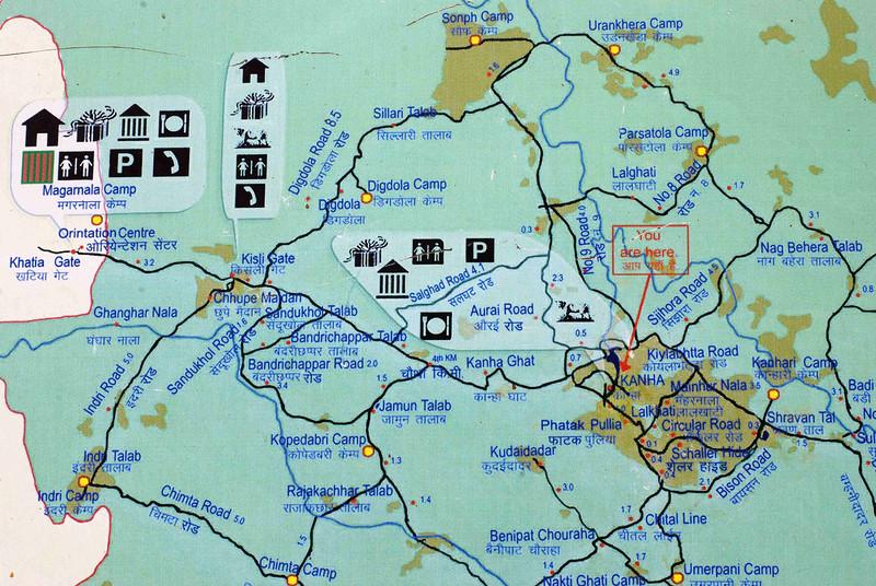 Map of Kanha area