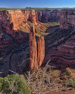 Spider Rock and Sunrise, Canyon De Chelly