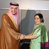 EAM Sushma Swaraj met Saudi Arabian FM Adel bin Ahmed Al Jubeir in UN on 20th sept 2017...pic Mohammed Jaffer-SnapsIndia
