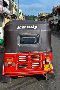 A tuk-tuk in Kandy