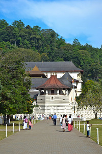 The Temple of the Tooth in Kandy - home of the Buddha's tooth relic