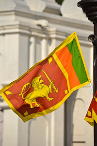 The Sri Lankan flag
