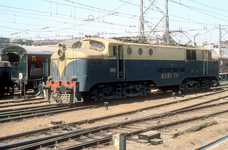 A follow-on order from EE/Vulcan Works in 1957, WCM2 20180 is seen in the yard at Bombay VT station on 6 March 1992