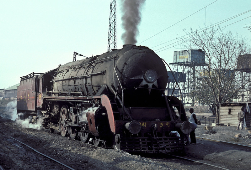 A close up of WP7041 in the yard at Delhi Junction shed on 16 February 1992
