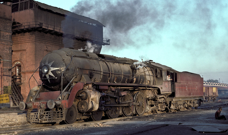 WP7103 in the yard at Saharanpur Depot on 17 February 1992