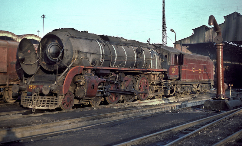 WP7591 at Saharanpur on 17 February 1992