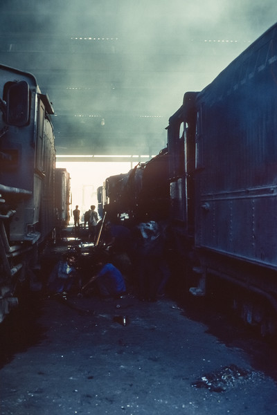 Working in the gloom of Jaipur locomotive shed on 3 March 1992