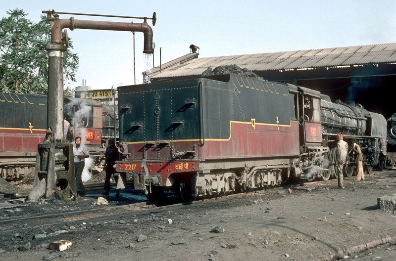 YP2217 is readied for its next assignment at Mahesana Junction depot on 4 March 1992
