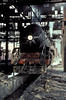 The locomotive looks to be in better condition than the shed - WP7199 at Delhi Junction depot on 16 February 1992