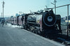 YP2580, a metre gauge Pacific, pauses in the metre gauge platforms at Bareilly Junction on 18 February 1992