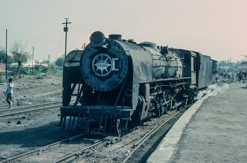 YG 3502 sits in the metre gauge yard at Agra Idgah on 1 March 1992