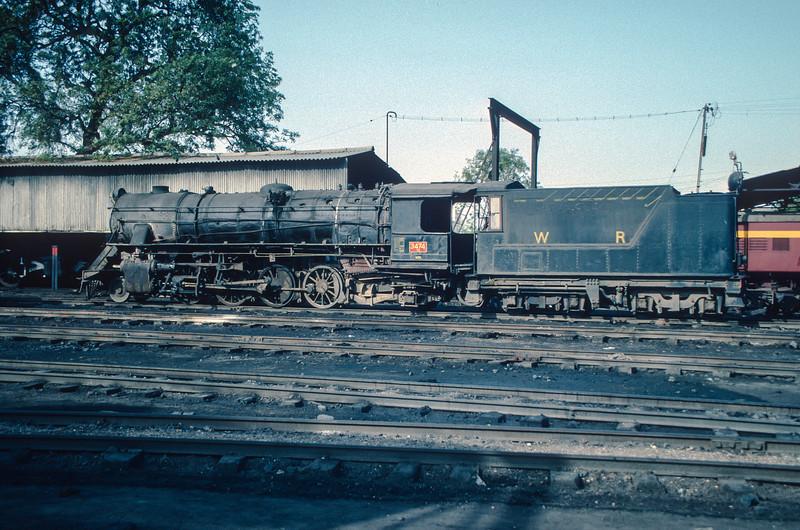 YG 3474 makes a fine portrait sat at the rear of Mahesana depot on 4 March 1992