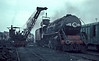 WP7015 receives another load of coal in the depot yard at Moradabad on 18 February 1992