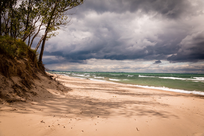 Changing weather at Indiana Dunes National Park