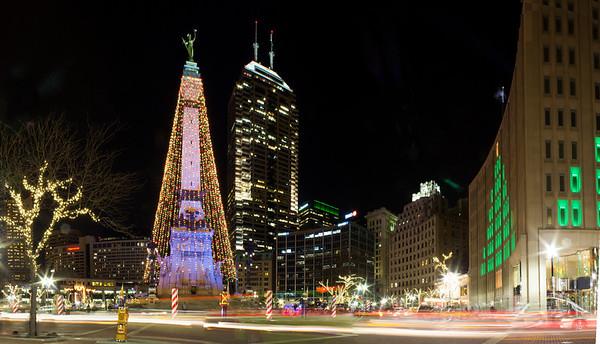 Monument Circle Christmas