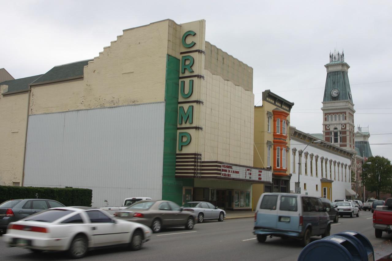 Crump Theatre in Columbus, Indiana.  Oct 04.