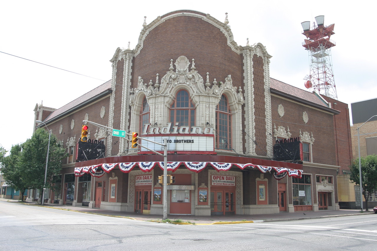 The Indiana Theatre at South 7th and Ohio Street, Terre Haute, Indiana.