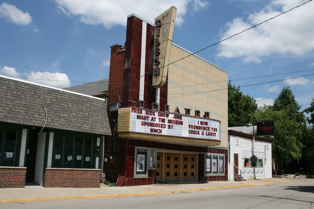 Gibson Theatre, Batesville, Indiana, July 2007.