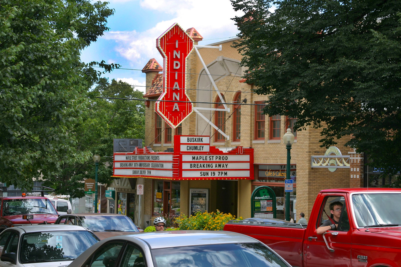 Indiana Theatre, Kirkwood Street, Bloomington, Indiana, July 2009.