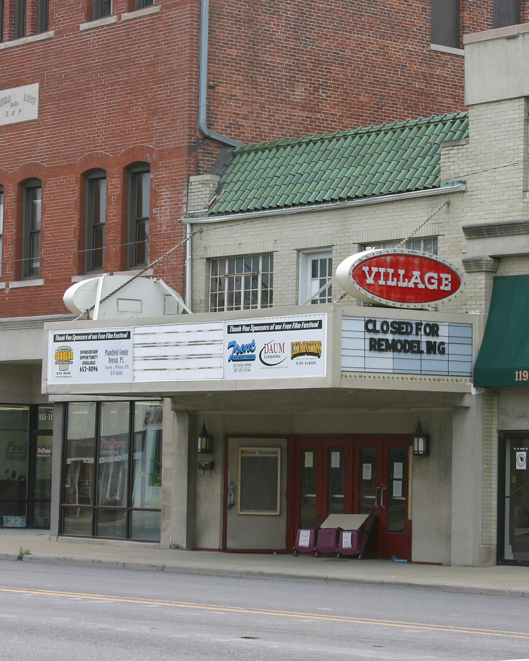 Village Theater on US 40 in Plainfield, Indiana.  Photographed July 21, 2006.