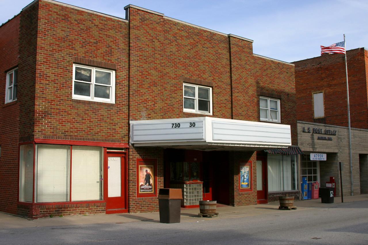 Monon, Indiana theatre.  April 2005.