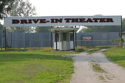 Drive-in theater just north of Logansport, Indiana.  Still in operation.  Photographed Oct 2005.