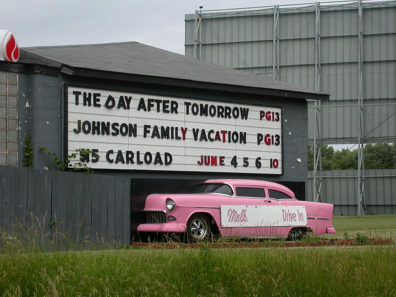 Mel's Drive-inn Theatre located north of Lebanon, Indiana.