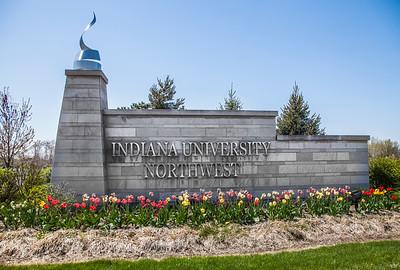 Indiana University Northwest Entrance Spring
