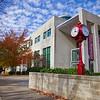 Indiana University Campus Jordan Avenue Clock Fall Day