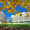 Indiana Univerity International Studies Building Fall Day