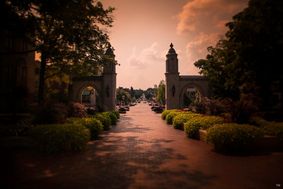 Indiana University Sample Gates Red Moody Hue